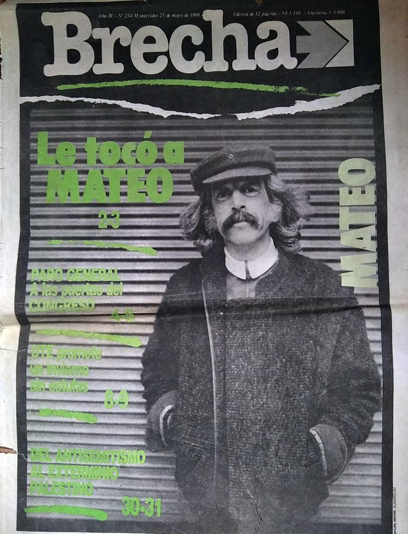 Tapa Semanario Brecha 25/5/90